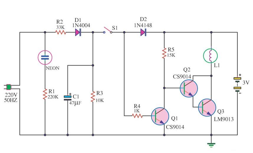 mini-emergency-light-by-9013-transistor