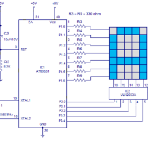 interfacing-led-dot-matrix-display-to-8051