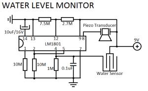 Датчик уровня воды схема