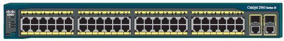 Передняя панель коммутатора Catalyst 2960-48TC-S