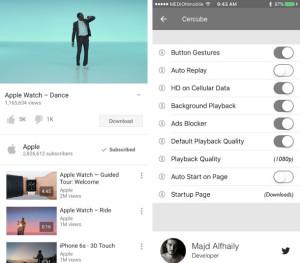 Cercube 3 позволяет скачать видео с YouTube на устройствах iOS 9