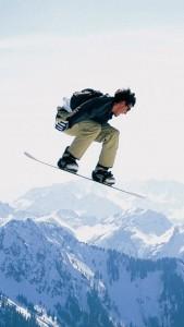 Скачать обои для iPhone - Сноубордист