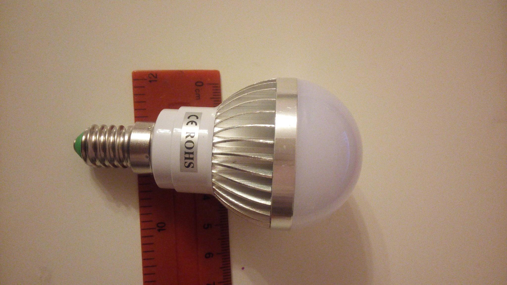 Размеры светодиодной лампы 10Вт из китая