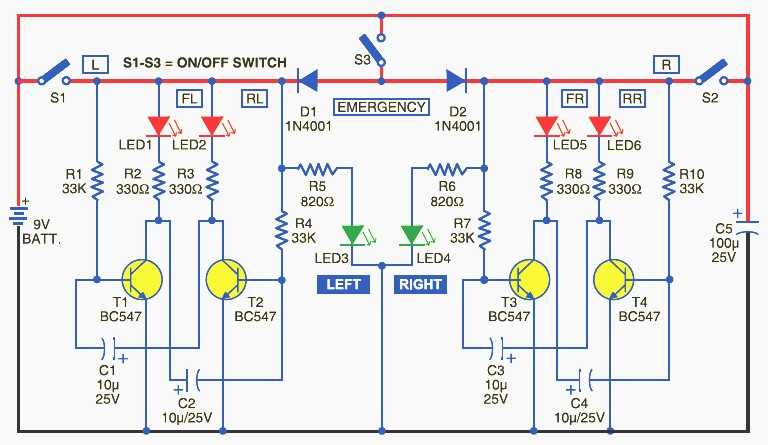 Bicycle-Directional-Lights-Indicator-Circuit