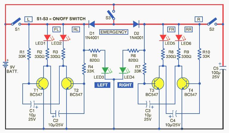 Bicycle-Directional-Lights-Indicator-Circuit