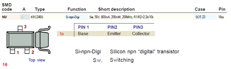 smd code (NV) — KRC246S- SOT-23